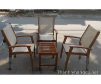 Thanh lý bàn ghế gỗ cafe 048