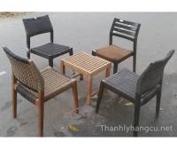 Thanh lý bàn ghế gỗ cafe 050