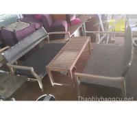 Thanh lý bàn ghế gỗ cafe 054