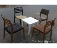 Thanh lý bàn ghế gỗ cafe 049