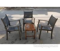 Thanh lý bàn ghế gỗ cafe 046